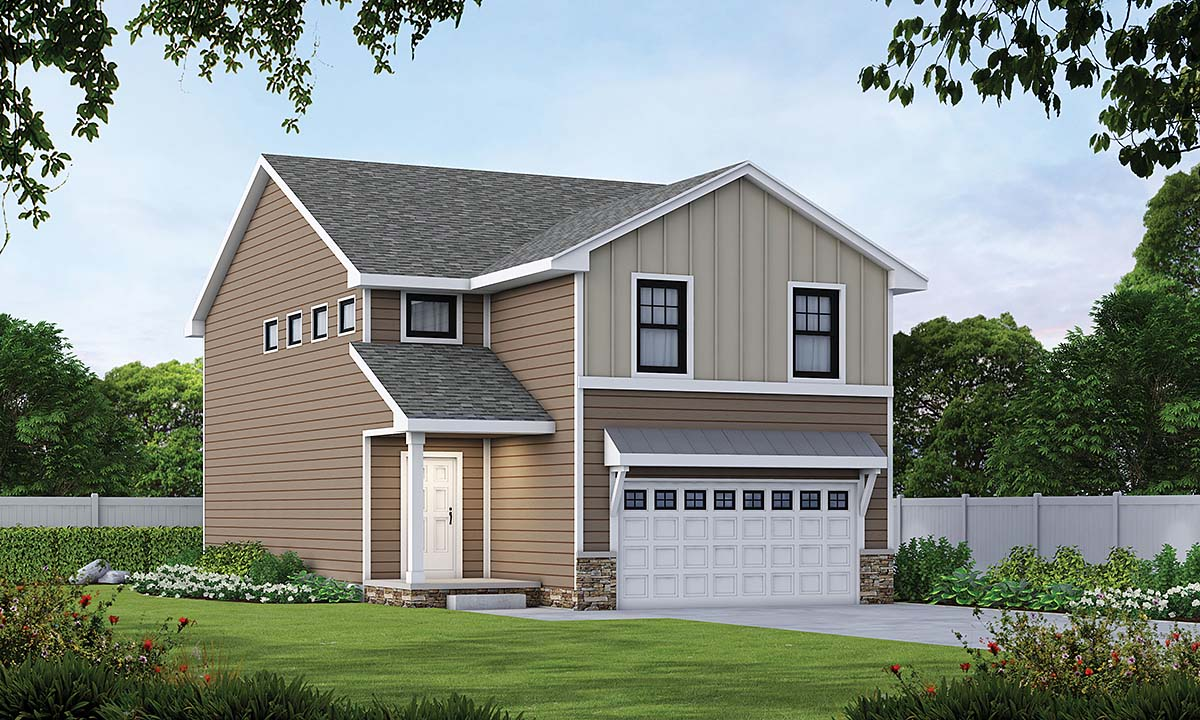 Farmhouse House Plan 75739 with 4 Beds, 3 Baths, 2 Car Garage Front Elevation