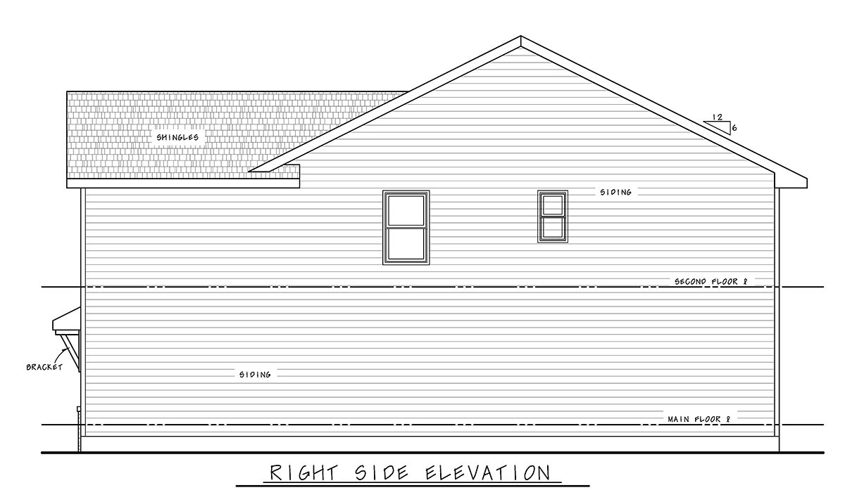 Farmhouse House Plan 75739 with 4 Beds, 3 Baths, 2 Car Garage Picture 1