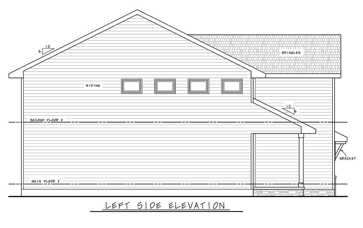 Farmhouse House Plan 75739 with 4 Beds, 3 Baths, 2 Car Garage Picture 2
