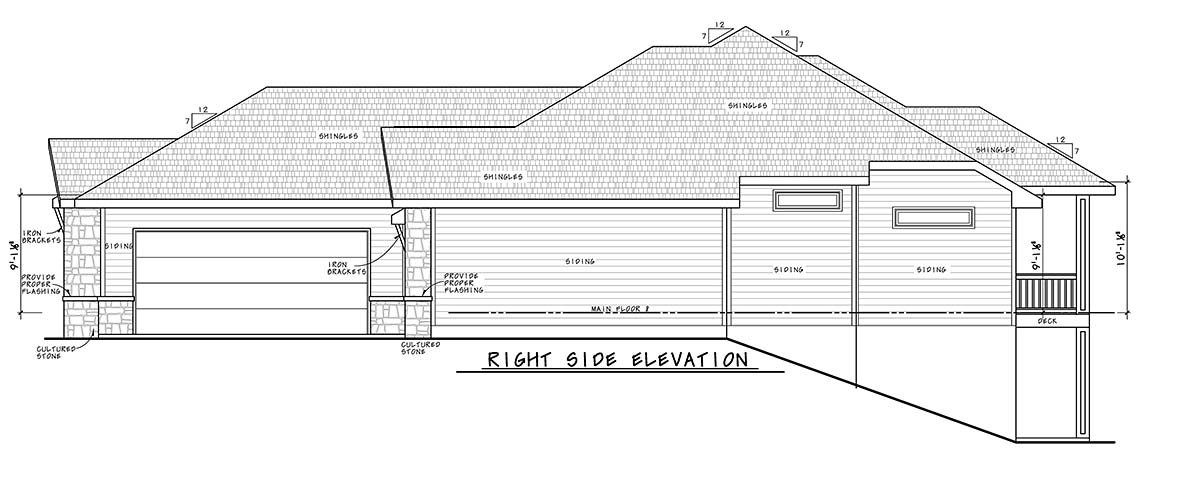 Craftsman House Plan 75740 with 4 Beds, 4 Baths, 3 Car Garage Picture 1