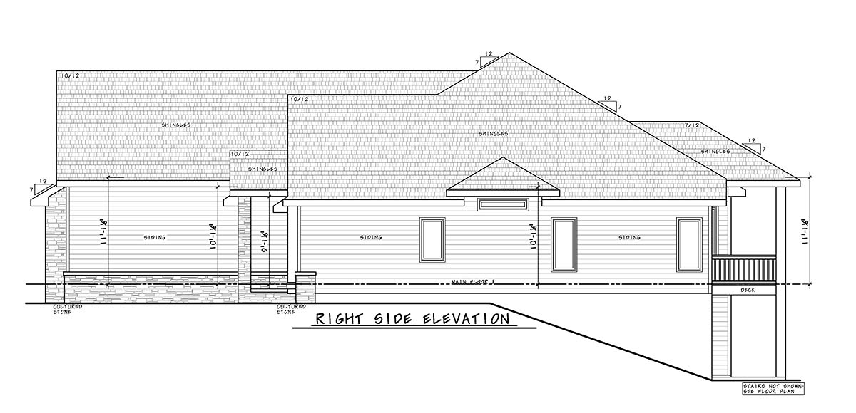 Craftsman, Traditional House Plan 75741 with 4 Beds, 4 Baths, 4 Car Garage Picture 1
