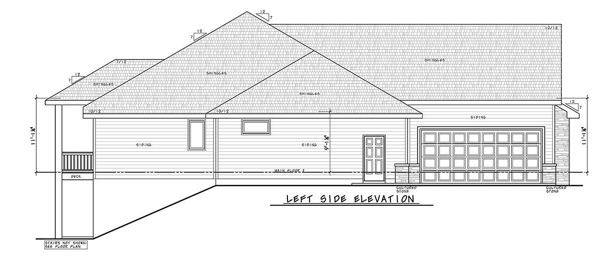 Craftsman, Traditional House Plan 75741 with 4 Beds, 4 Baths, 4 Car Garage Picture 2