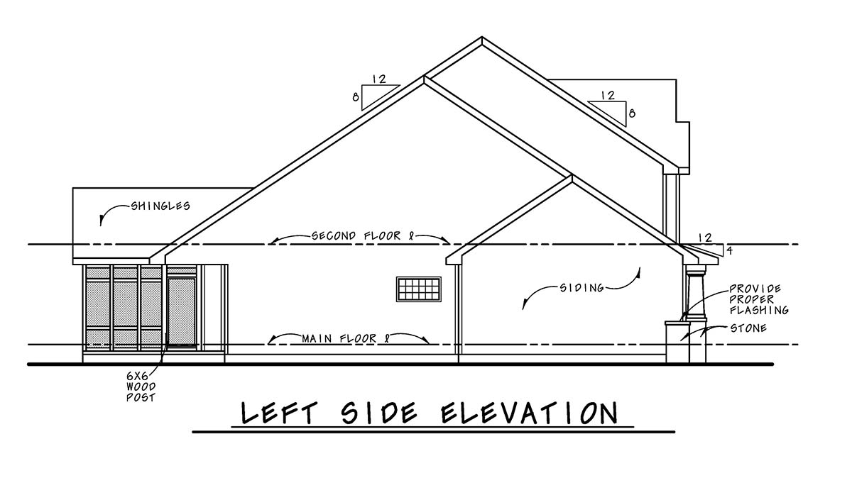 Bungalow, Cottage, Country, Craftsman House Plan 75743 with 3 Beds, 3 Baths, 2 Car Garage Picture 2