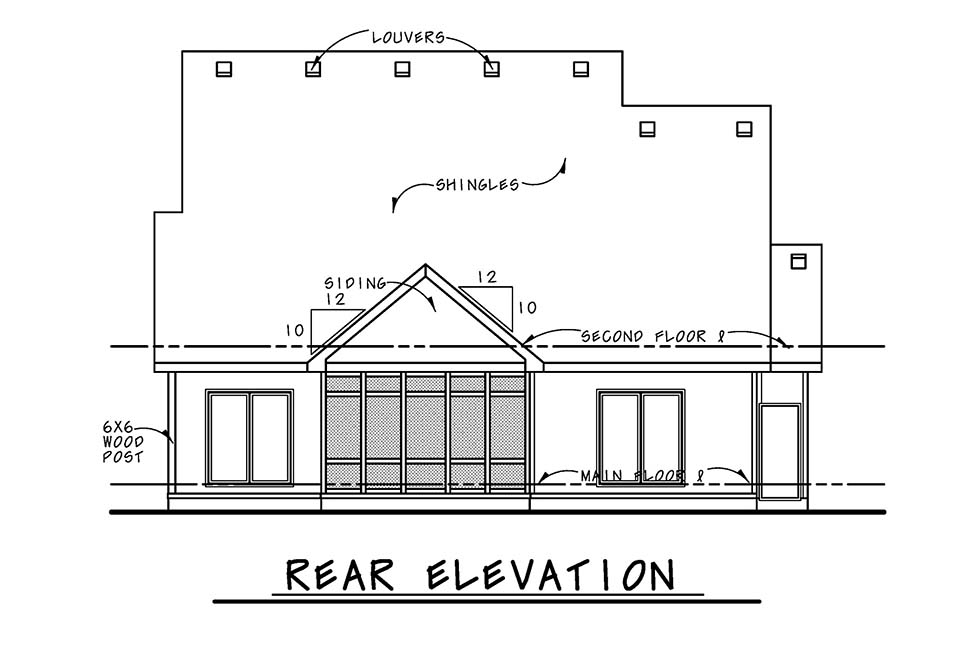 Bungalow, Cottage, Country, Craftsman House Plan 75743 with 3 Beds, 3 Baths, 2 Car Garage Picture 3