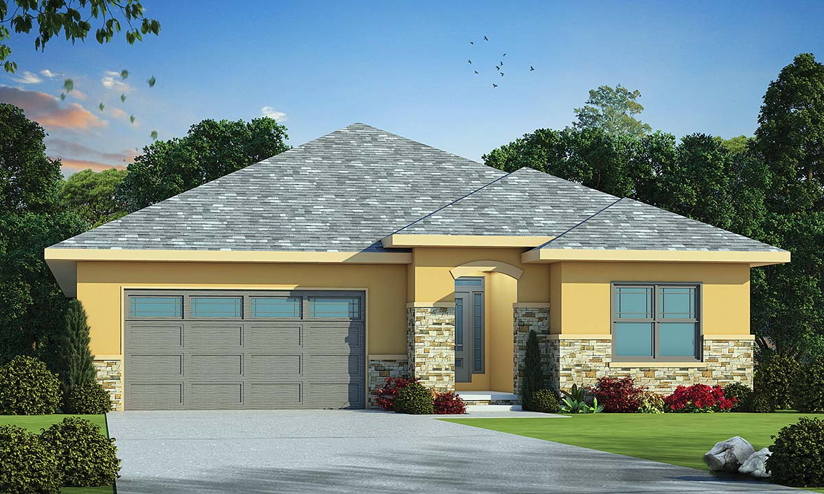 Mediterranean House Plan 75745 with 3 Beds, 2 Baths, 2 Car Garage Elevation
