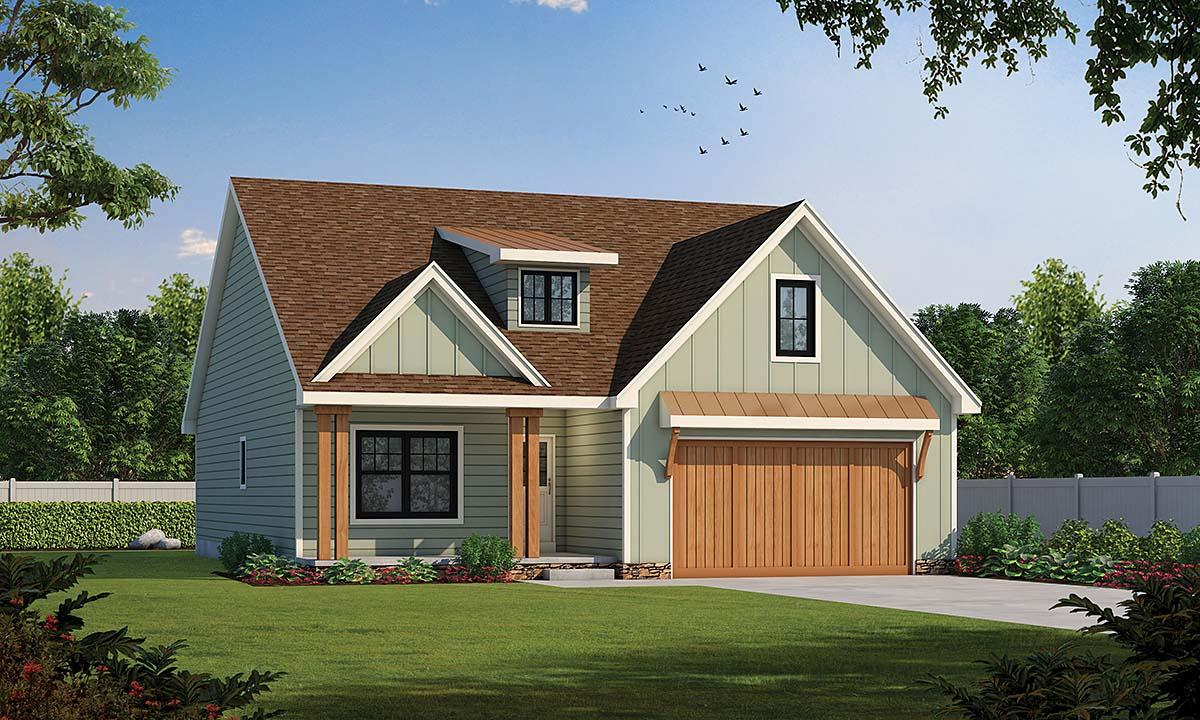 Craftsman House Plan 75757 with 4 Beds, 4 Baths, 2 Car Garage Elevation