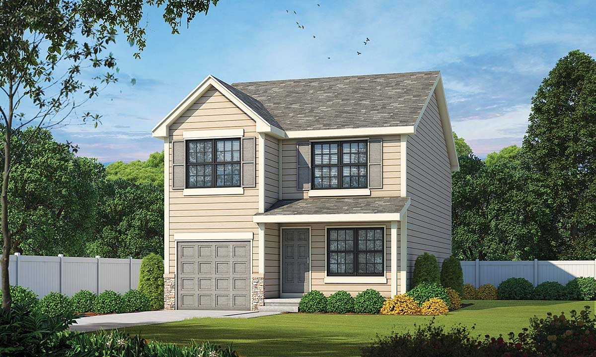 Traditional House Plan 75758 with 3 Beds, 3 Baths, 1 Car Garage Elevation
