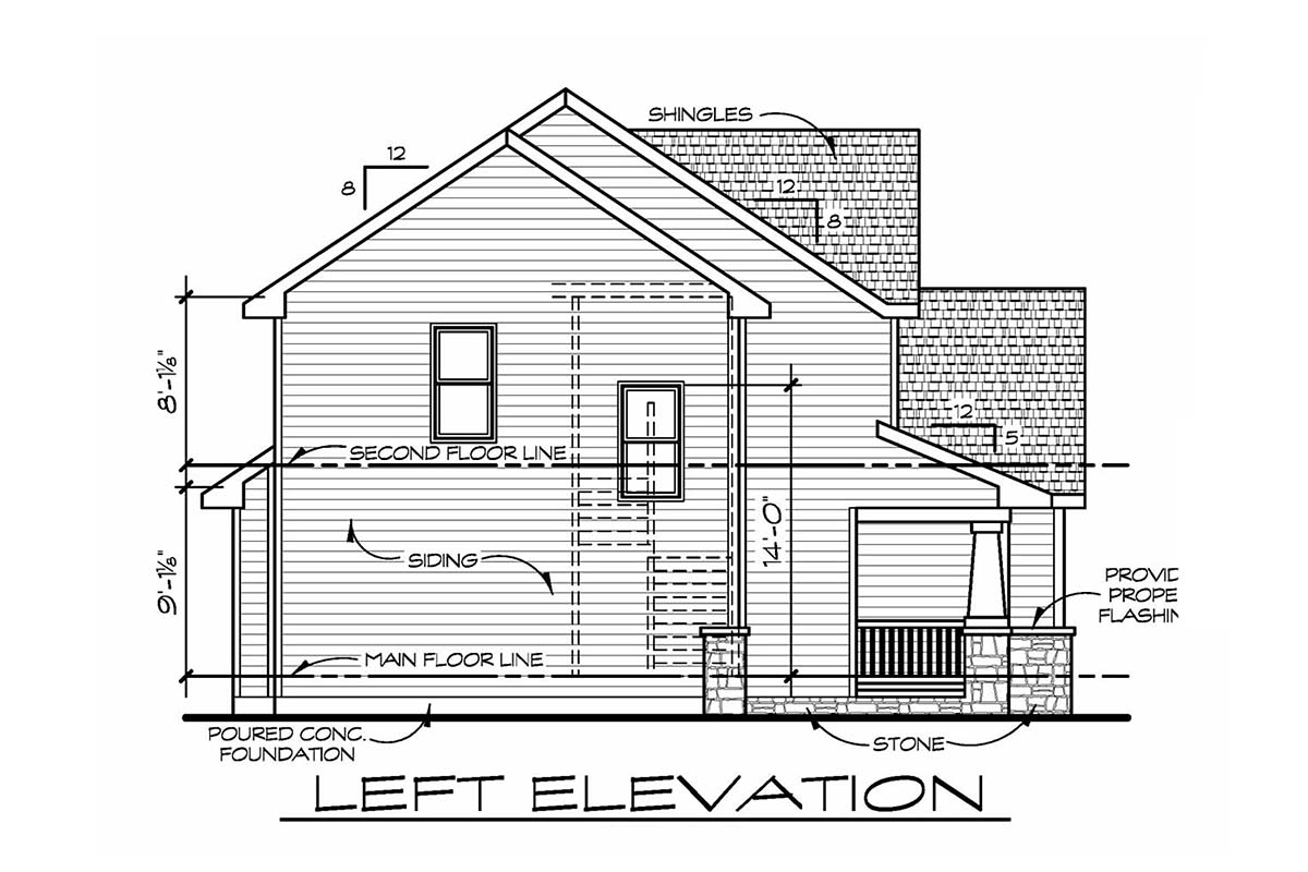 Craftsman, Traditional House Plan 75759 with 4 Beds, 3 Baths, 3 Car Garage Picture 2