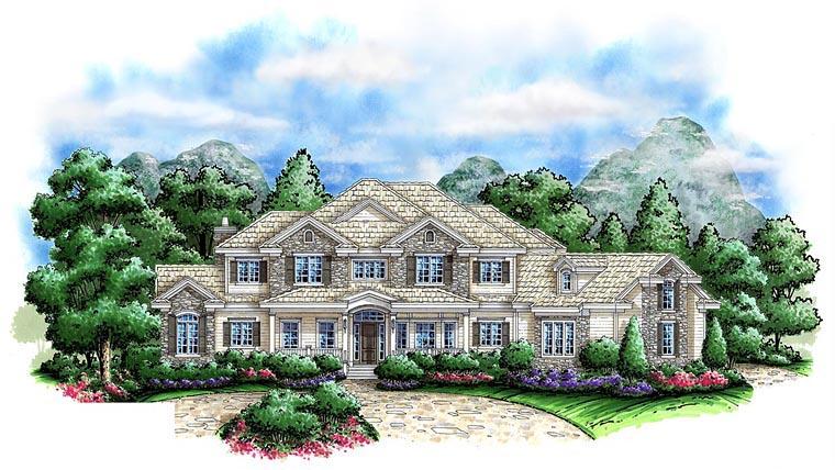 Coastal Craftsman House Plan 75900 Elevation