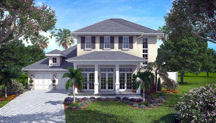 House Plan 75904 | Colonial French Country Style Plan with 3624 Sq Ft, 4 Bedrooms, 5 Bathrooms, 2 Car Garage Elevation