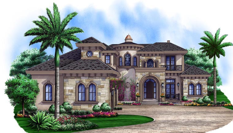 Mediterranean House Plan 75912 Elevation