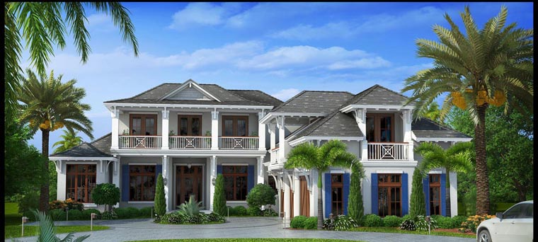 Mediterranean House Plan 75913 with 6 Beds, 8 Baths, 3 Car Garage Front Elevation