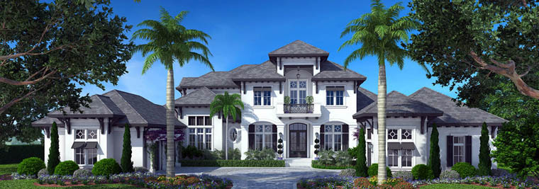 House Plan 75916 | Mediterranean Style House Plan with 6220 Sq Ft, 4 Bed, 5 Bath, 3 Car Garage Elevation