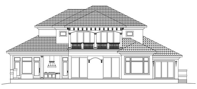 Mediterranean House Plan 75920 Rear Elevation