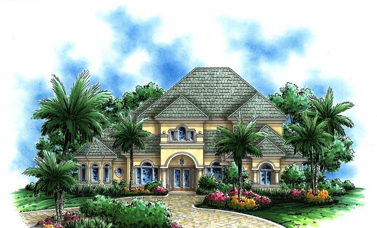 Coastal European House Plan 75921 Elevation
