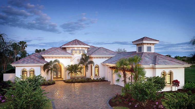 House Plan 75923 with 4 Beds, 4 Baths, 3 Car Garage Elevation