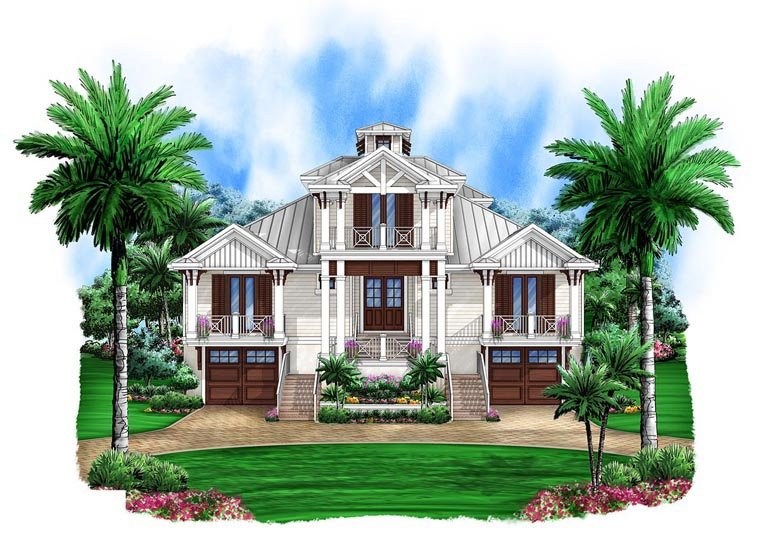 Florida House Plan 75925 Elevation