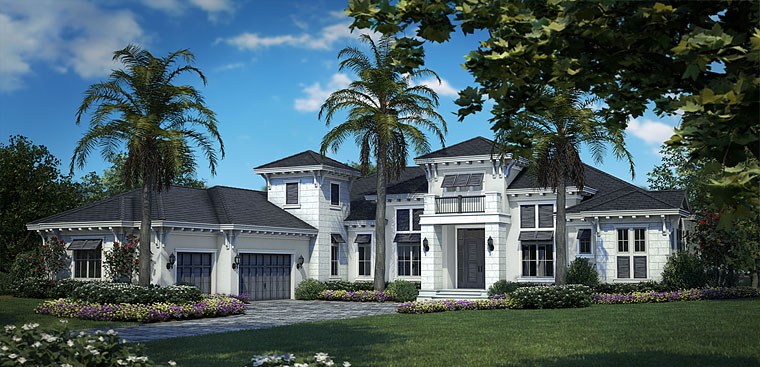 Florida Mediterranean Elevation of Plan 75929