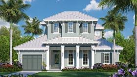 Florida House Plan 75936 with 4 Beds, 5 Baths, 3 Car Garage Elevation