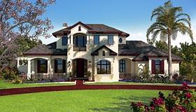 Florida Mediterranean House Plan 75938 Elevation
