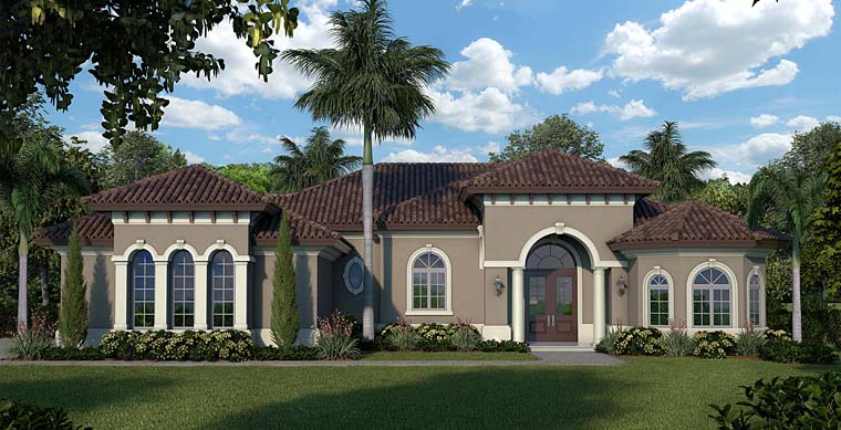 Florida Mediterranean House Plan 75939 Elevation
