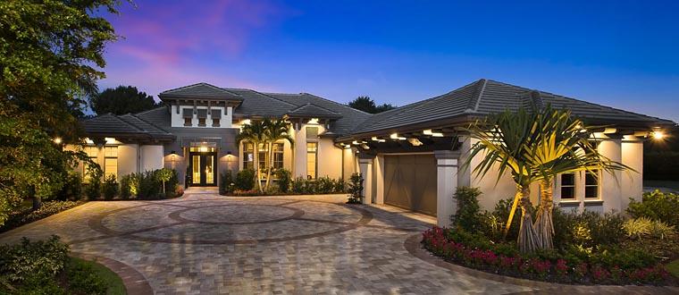 Mediterranean House Plan 75941 with 4 Beds, 4 Baths, 3 Car Garage Elevation