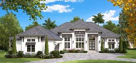 Contemporary Mediterranean House Plan 75942 Elevation