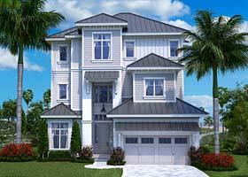 Craftsman , Contemporary , Coastal House Plan 75951 with 5 Beds, 6 Baths, 2 Car Garage Elevation