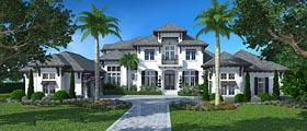 Florida Mediterranean House Plan 75952 Elevation