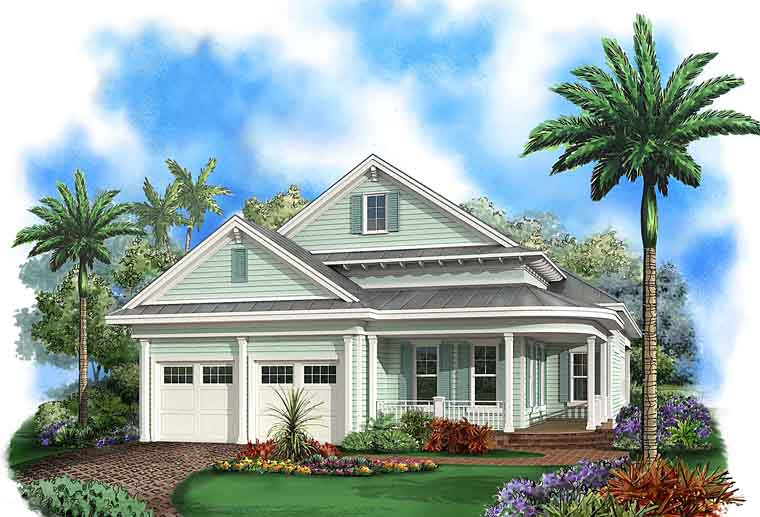 Coastal Country Florida House Plan 75959 Elevation