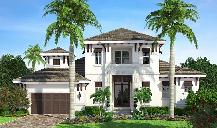 Coastal Florida Mediterranean House Plan 75960 Elevation