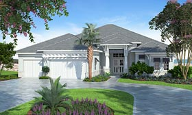 Coastal Florida Mediterranean House Plan 75965 Elevation