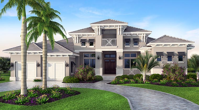 Florida Mediterranean House Plan 75970 Elevation
