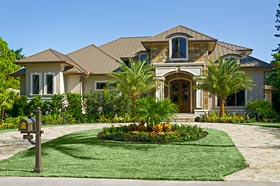 Coastal , Florida , French Country House Plan 75980 with 4 Beds, 6 Baths, 4 Car Garage Elevation