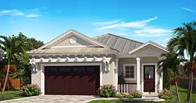 House Plan 75991 | Coastal Cottage Craftsman Florida Style Plan with 1748 Sq Ft, 3 Bedrooms, 3 Bathrooms, 2 Car Garage Elevation