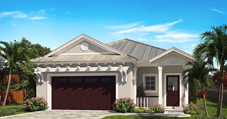 Coastal Cottage Craftsman Florida House Plan 75991 Elevation