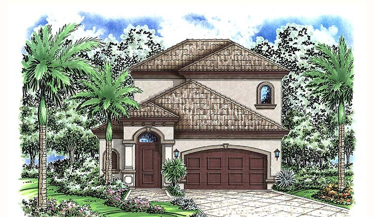Florida Mediterranean House Plan 75992 Elevation
