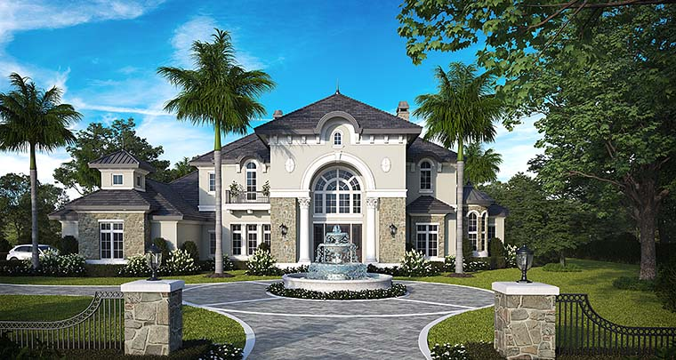 Florida French Country Mediterranean House Plan 75993 Elevation
