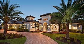 Mediterranean , Florida House Plan 75994 with 4 Beds, 5 Baths, 4 Car Garage Elevation