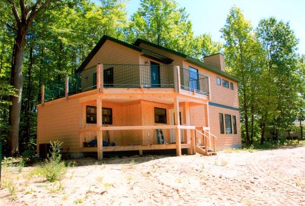 Cabin Contemporary House Plan 76000