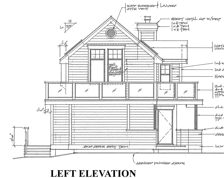 Cabin, Contemporary House Plan 76000 with 3 Beds, 2 Baths Picture 3