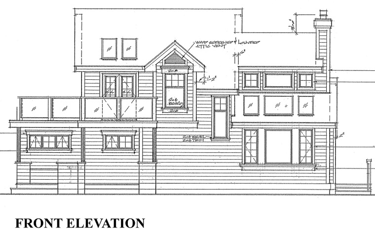 Cabin, Contemporary, House Plan 76000 with 3 Beds, 2 Baths