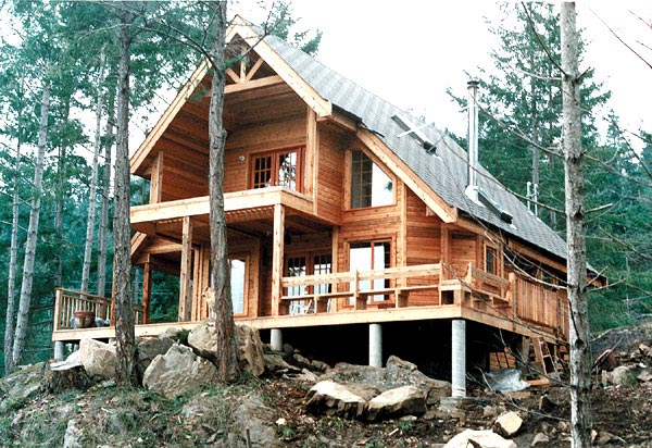 Cabin Contemporary House Plan 76001 Elevation