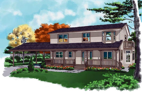 Ranch House Plan 76006 Elevation