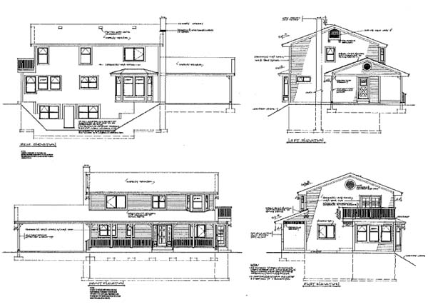 Ranch House Plan 76006 Rear Elevation
