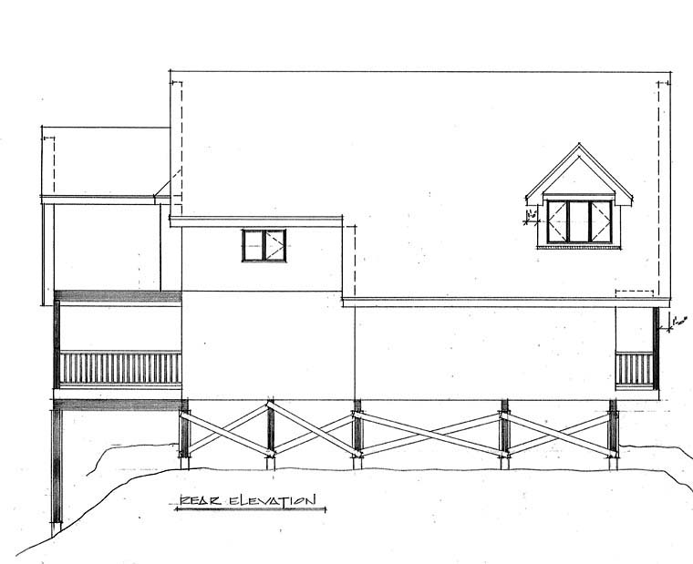 Contemporary House Plan 76007 Rear Elevation