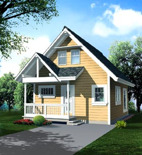 Plan Number 76009 - 796 Square Feet