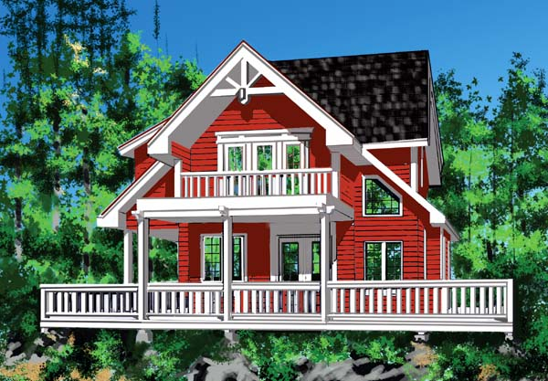 Contemporary , Craftsman , Elevation of Plan 76010