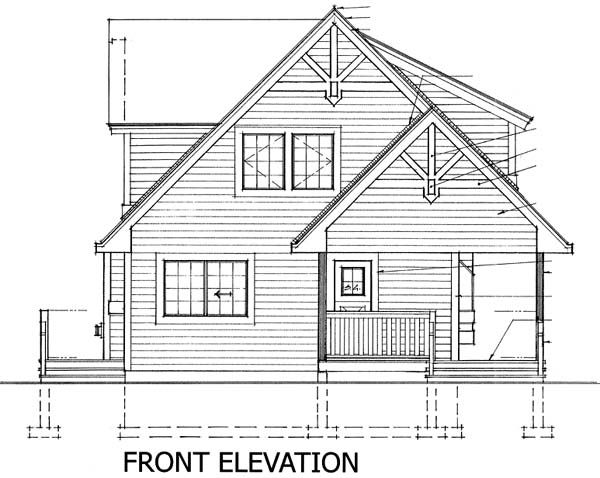 Contemporary , Craftsman , Rear Elevation of Plan 76010
