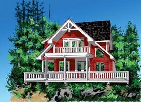Cabin House Plan 76011 Elevation